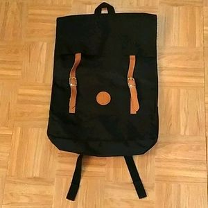 Straight Down Black Backpack